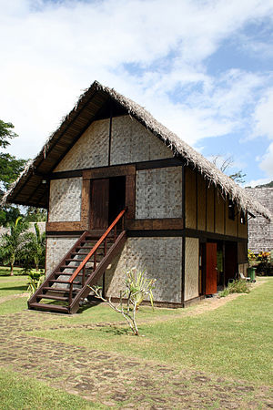 Paul Gauguin Cultural Center - Reconstruction of Gauguin's home Maison du Jouir (House of Pleasure) at Atuona.