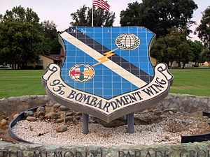 Castle Air Force Base - Sign at front entrance of deactivated Castle AFB