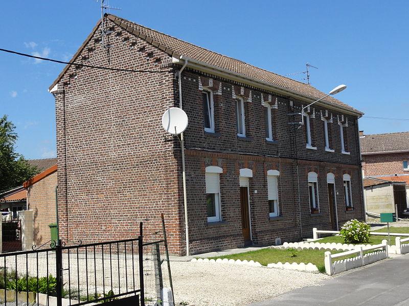 Cités de la Fosse n° 8 de la Compagnie des mines de l'Escarpelle, Auby, Nord, Nord-Pas-de-Calais, France.