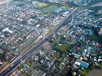 Transport in New Zealand - State Highway 1 in South Auckland.