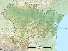 Voir sur la carte topographique de l'Aude