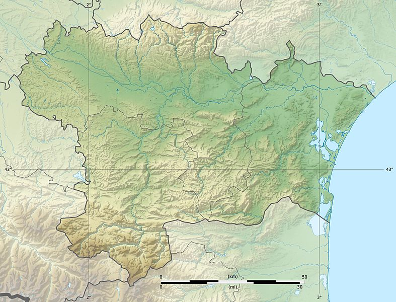 Fichier:Aude department relief location map.jpg