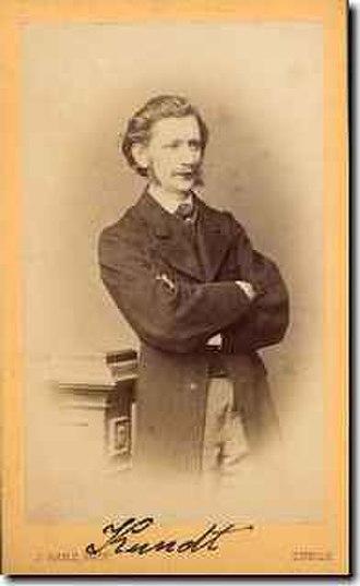 August Kundt - August Adolf Eduard Eberhard Kundt