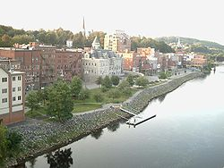 Augusta, Maine, taken from the bridge