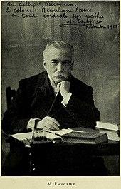 Portrait of Georges Auguste Escoffier