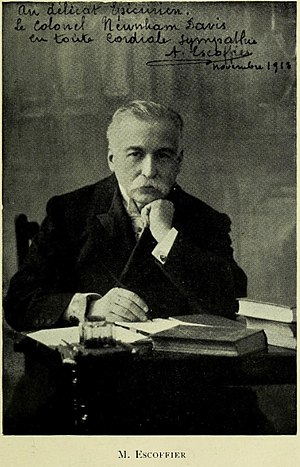 English: Photograph of Auguste Escoffier