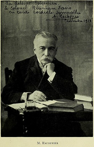 Joseph Favre - Auguste Escoffier, a famous chef and writer who admired Favre