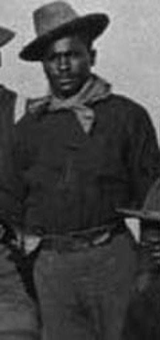 Augustus Walley - Augustus Walley when he was with the 10th Cavalry, c. 1898