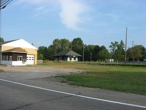 National Register of Historic Places listings in Portage County, Ohio - Image: Aurora Train Station, Aurora