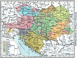Geografisk placering af Staten af Slovenere, Kroater og Serbere