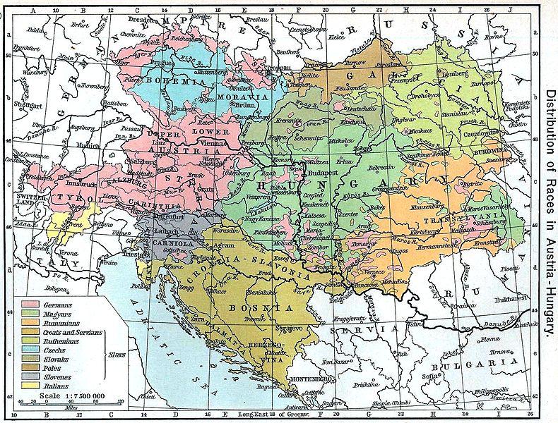1711 1918 Mapy Rakouska Uherska