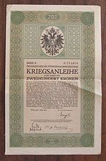 a 1915 Austrian war bond