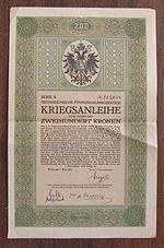 un legame di guerra austriaco del 1915