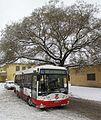 Autobusová linka č. 291 v ulici Apolinářská, Praha 2 - Nové Město.JPG