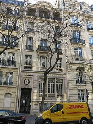 Internationale Deutsche Schule Paris - Image: Avenue Raymond Poincaré, 13