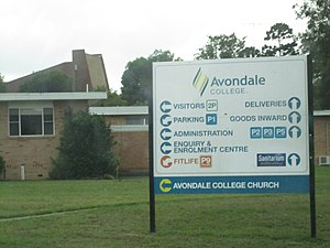 Avondale College - Front entrance of the college