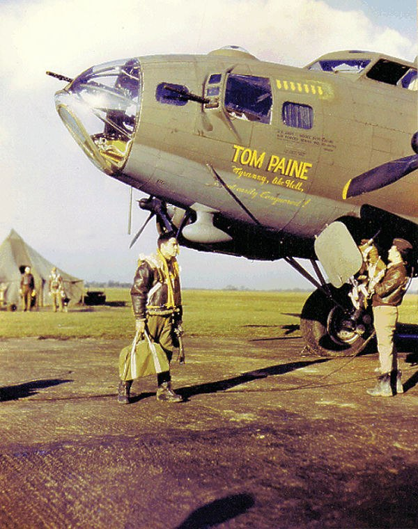 "B-17F ""Tom Paine"" of the 388th Bomb Group, WW2"