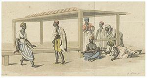 Farsa, Greece - The Farsa marked was in Ottoman Empire a slave trading place (c1803)