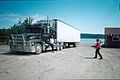 BIG RIG CALLS BY HOTEL 26TH JULY 2002 Port Hope Simpson Off The Beaten Path Llewelyn Pritchard.jpg