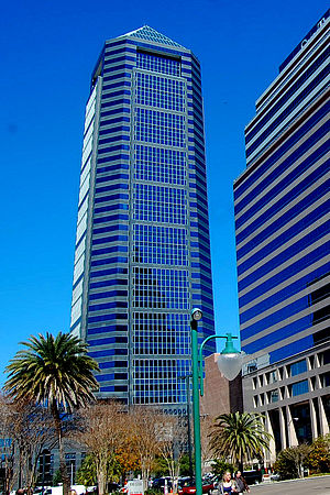 Bank of America Tower (Jacksonville) - Image: BOA Tower Jacksonville Feb 2010 a