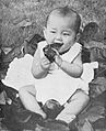 Baby Tan Hock Seng of Bengkulu chewing on a leaf, Star Magazine 2.20 (August 1940), p35.jpg