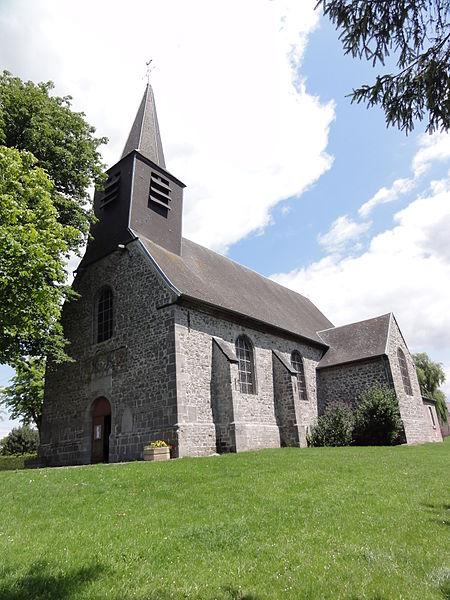 Bachant (Nord, Fr) église, exterieur