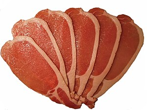 back bacon, better known as pork loin chops