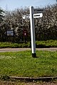 Bacon End road junction fingerpost, Great Canfield, Essex, England.jpg