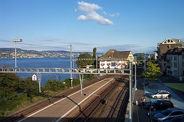 The line at Horgen, showing the proximity of Lake Zurich