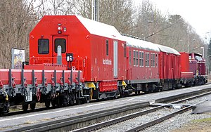 Bad Aibling rail accident - Emergency engineering train ready for operation in Kolbermoor