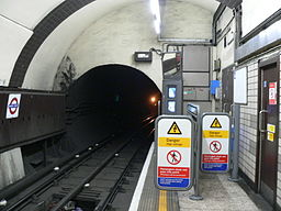 Baker Street-Bakerloo Line-Northbound headwall