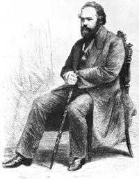Grabado de Bakunin en 1868.