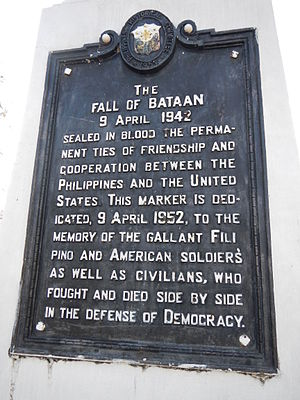 Bataan Day - Fall of Bataan historical marker, Bataan Capitolio