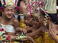 Bali Odalan celebration in Pura Kehen Bangli temple, dancing girls.jpg