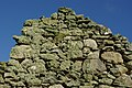 Balliekine ruin - lichen-covered gable - geograph.org.uk - 1163346.jpg