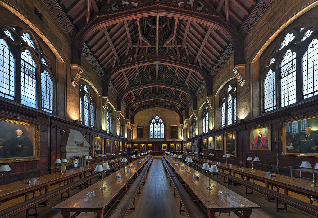 Réfectoire du Balliol College à Oxford en Angleterre.Photo by DAVID ILIFF. License: CC-BY-SA 3.0