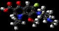 Balofloxacin molecule ball.png