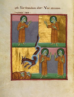 Two witnesses - The two witnesses, as depicted in the Bamberg Apocalypse, an 11th-century illuminated manuscript.