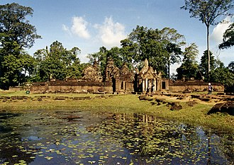 "Banteay Srei - ""Bantãy Srĕi"" (Citadel of Women) is the modern name of a 10th-century Khmer temple originally called ""Tribhuvanamaheśvara"" (Great Lord of the Threefold World), an appellation of the god Siva."