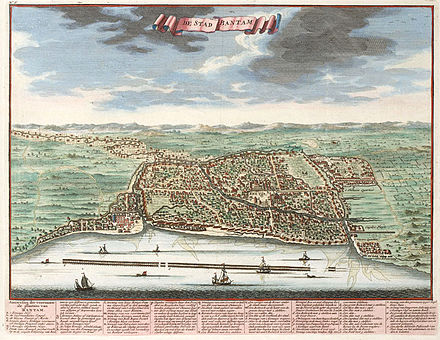February 25: The first permanent Dutch trading post in Indonesia is established in Banten. Banten-city-Java-1724.jpg