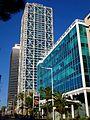 Barcelona - Edificio de oficinas en Avinguda del Litoral 12-14 y Hotel Arts.jpg