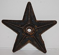Metal barnstar anchor plate