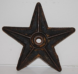 Decorative star on houses
