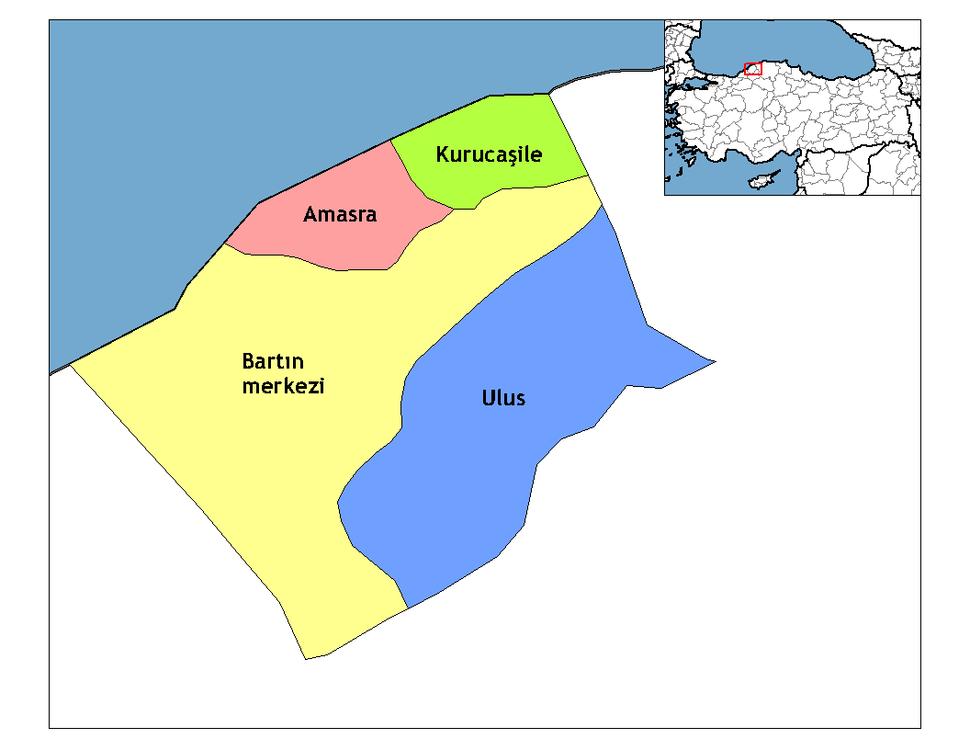 Bartın districts