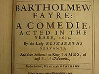 Bartholomew Fair (play) cover