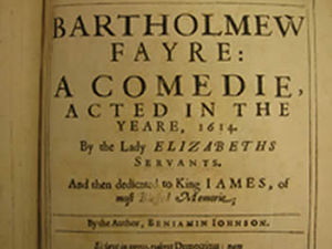 Bartholomew Fair (play) - Title page of Bartholomew Fair: A Comedy.