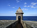 Bartizan of Castillo San Felipe del Morro, San Juan and the Atlantic.jpg