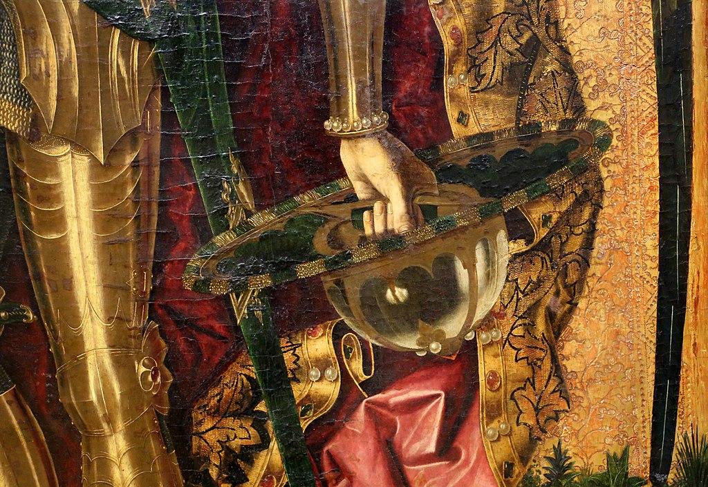 Bartolomé bermejo, san michele trionfa sul demonio, 1468, 05.jpg