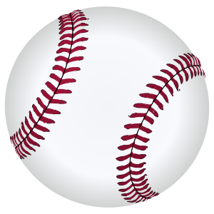 SVG drawing of a baseball.