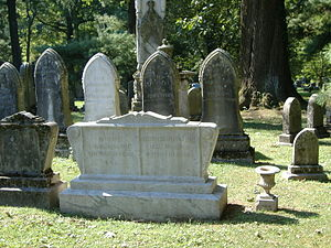 Basil W. Duke - Basil W. Duke's grave.  John Hunt Morgan's grave is the white one behind Duke's.